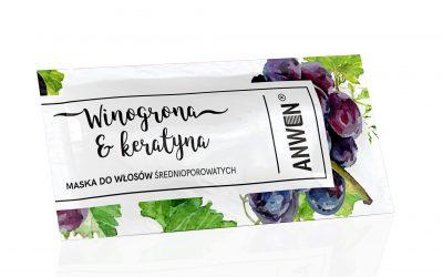 Anwen Maska do włosów średnioporowatych w saszetce 10ml
