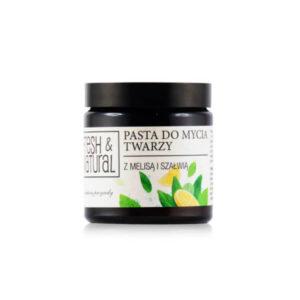 Fresh&Natural Pasta do mycia twarzy w szkle. Naturalne kosmetyki w UK Dunia Organic