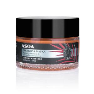 Asoa Maseczka do twarzy Czerwona Kosmetyki naturalne UK Dunia Organic