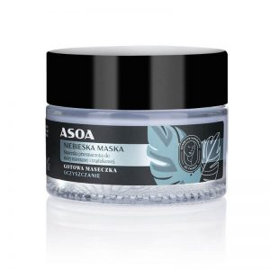 Asoa Maseczka do twarzy niebieska. Kosmetyki naturalne UK Dunia Organic
