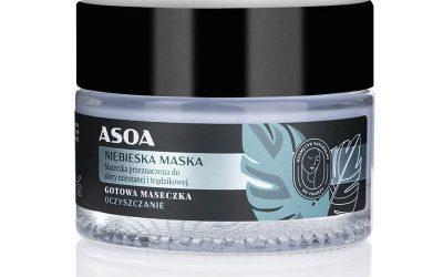 Asoa Gotowa maseczka do twarzy z niebieską glinką 50ml