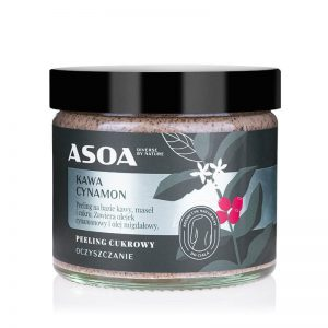 Asoa Peeling do ciała cynamon i kawa . Kosmetyki naturalne UK Dunia Organic