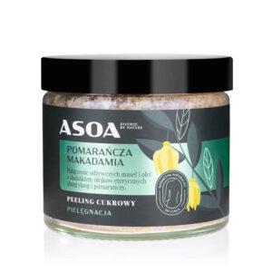 Asoa Peeling do ciała pomarańcza makadamia. Kosmetyki naturalne UK Dunia Organic