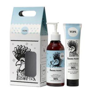 Yope Zestaw szampon i odzywka Swieza trawa. Kosmetyki naturalne i organiczne UK Dunia Organic