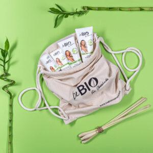 Zestaw BeBio Bambus i Trawa Cytrynowa w eko plecaku UK