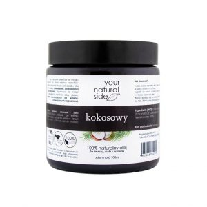 Your Natural Side Olej kokosowy nierafinowany. Kosmetyki naturalne UK Dunia Organic