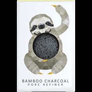 The Konjac Company Gabka konjac leniwiec z weglem bambusowym . Kosmetyki naturalne w UK Dunia Organic