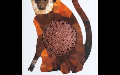 Konjac Gąbka Mini Małpka z Czerwoną Glinką