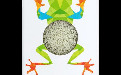 Konjac Gąbka Mini Żabka z zieloną glinką