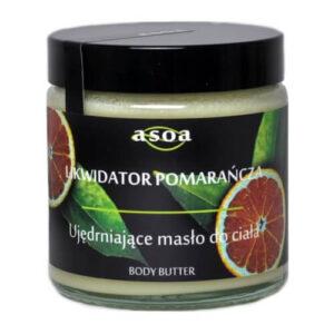 Asoa Ujędrniające masło do ciała Likwidator Pomarańcza. Kosmetyki naturalne i organiczne w UK Dunia Organic.