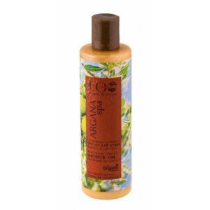 Ecolab Nawilżający olejek pod prysznic ARGAN SPA. Naturalne kosmetyki do ciała UK Dunia Organic