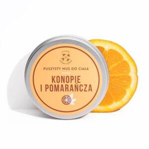 Mydlarnia cztery Szpaki Mus do ciała Konopie i Pomarańcza. Naturalne kosmetyki UK Dunia Organic