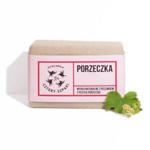 Mydlarnia cztery Szpaki Mydło Peelingujące Porzeczka 1. Naturalne kosmetyki UK Dunia Organic