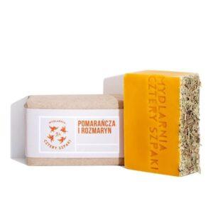 Mydlarnia cztery Szpaki Mydło Pomarańcza i Rozmaryn. Naturalne kosmetyki UK Dunia Organic
