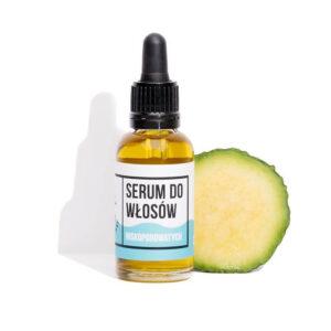 Mydlarnia cztery Szpaki Serum do włosów Niskoporowatych Naturalne kosmetyki UK Dunia Organic