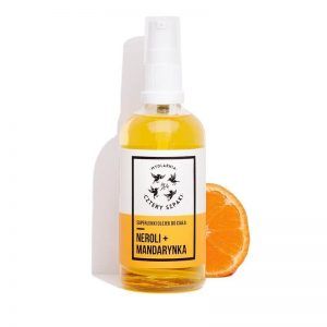 Mydlarnia cztery Szpaki Superlekki olejek do ciała Neroli+Mandarynka. Naturalne kosmetyki UK Dunia Organic