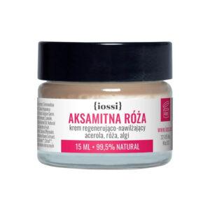 Iossi Aksamitna Róża. Krem regenerująco - nawilżający. Acerola, róża, algi. Naturalne kosmetyki UK Dunia Organic