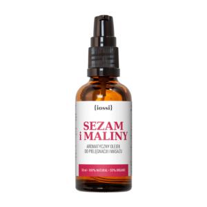 Iossi SEzam i MAliny. Olejek na rozstępy w ciąży. Kosmetyki naturalne UK Dunia Organic