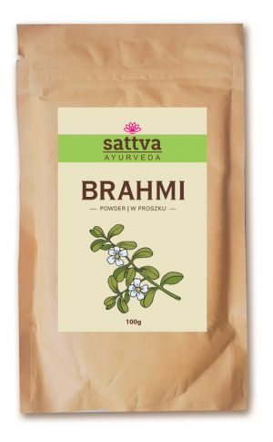 Sattva Ayurveda Brahmi Proszek. Naturalne kosmetyki do włosów Sattva UK Dunia Organic
