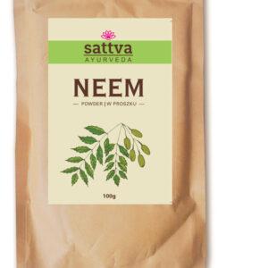 Sattva Ayurveda Neem Proszek Naturalne kosmetyki do włosów Sattva UK Dunia Organic