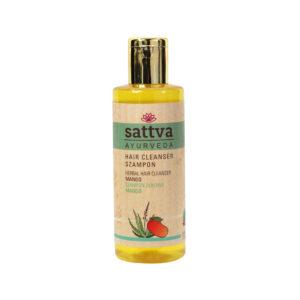Sattva Ayurveda SZampon mango. Naturalne kosmetyki do włosów Sattva UK Dunia Organic