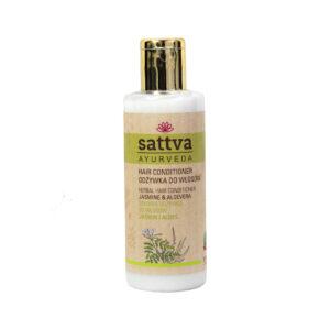 Sattva Ayurveda odżywka do włosów jaśmin i aloes Naturalne kosmetyki do włosów Sattva UK Dunia Organic