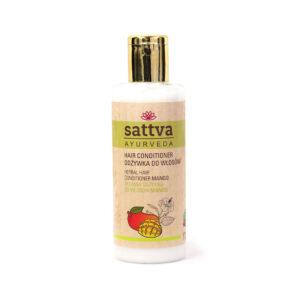 Sattva Ayurveda odżywka do włosów mango. Naturalne kosmetyki do włosów Sattva UK Dunia Organic
