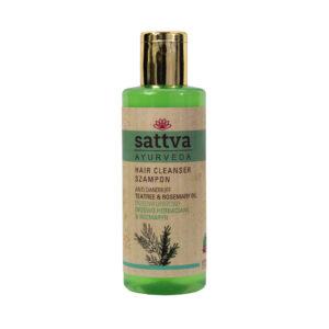 Sattva Ayurveda przeciwłupieżowy szampon drzewo herbaciane i rozmaryn.Naturalne kosmetyki do włosów Sattva UK Dunia Organic