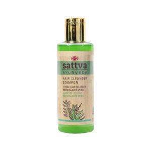 Sattva Ayurveda szampon do włosów neem i aloes. Naturalne kosmetyki do włosów Sattva UK Dunia Organic