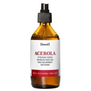 Iossi Acerola. Cytrusowa Esencja z kwasami AHA, kwasem hialuronowym i niacynamidem. 50ml Kosmetyki naturalne UK Dunia Organic
