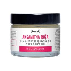 Iossi Aksamitna Róża. Krem regenerująco - nawilżający. Acerola, róża, algi. 50ml Naturalne kosmetyki UK Dunia Organic