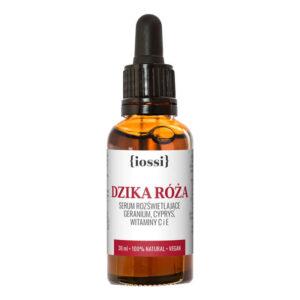 Iossi Dzika róża serum rozswietlajace 30 ml. Kosmetyki naturalne UK Dunia Organic
