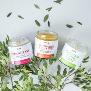 Iossi Zestaw trzech peelingów. Kosmetyki naturalne UK Dunia Organic