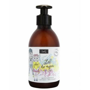 LaQ Żel do mycia dla dzieci o zapachu gumy balonowej 300ml Naturalne kosmetyki handmade UK Dunia Organic