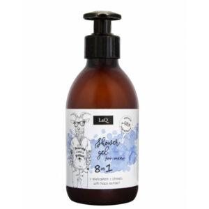 LaQ Żel pod prysznic dla facetów 300ml. Naturalne kosmetyki handmade UK Dunia Organic