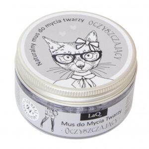 LaQ Oczyszczający mus do mycia twarzy. Naturalne kosmetyki handmade UK Dunia Organic