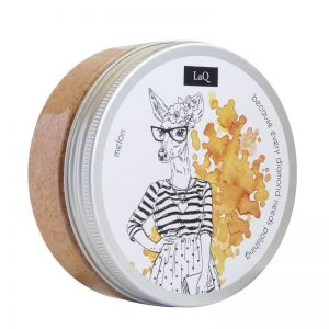LaQ PEeling myjący - melonowy. Naturalne kosmetyki handmade UK Dunia Organic