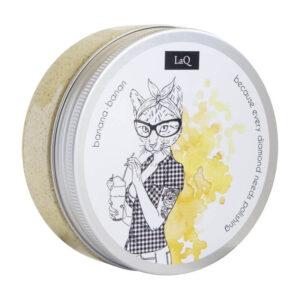 LaQ Peeling myjący banan. Naturalne kosmetyki handmade UK Dunia Organic
