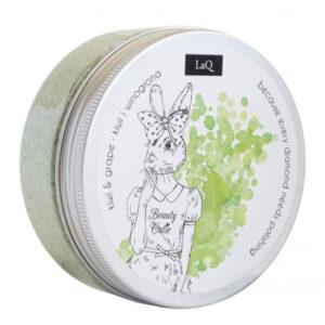 LaQ Peeling myjący kiwi i winogrona. Naturalne kosmetyki handmade UK Dunia Organic
