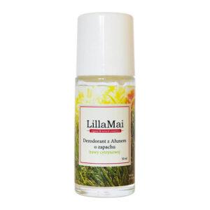 Lillamai Dezodorant z ałunem trawa cytrynowa Kosmetyki naturalne i organiczne UK Dunia Organic.