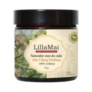 Lillamai Naturalny Mus do Ciała May Chang Werbena.Kosmetyki naturalne i organiczne UK Dunia Organic.
