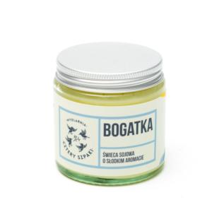 Mydlarnia cztery Szpaki świeca swojowa bogatka. Naturalne kosmetyki UK Dunia Organic