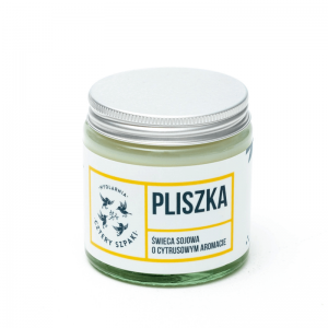 Mydlarnia cztery Szpaki Naturalna Świeca sojowa - cytrynowa Naturalne kosmetyki UK Dunia Organic