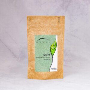 Nanga Neem liśc mielony 100g. Zioła do włosów UK. Dunia Organic