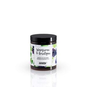 Anwen Maska do włosów srednioporowatych Winogrona i Keratyna szkło. Kosmetyki naturalne do wlosow UK Dunia Organic