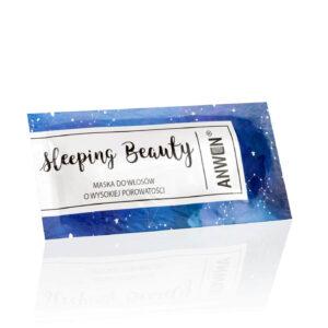 Anwen Saszetka sleeping beauty do wysokiej porowatości. Kosmetyki do włosów UK. Dunia Organic.