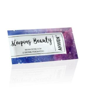 Anwen Saszetka sleeping beauty. Kosmetyki do włosów UK. Dunia Organic.