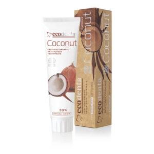 Ecodenta Pasta do zębów Kokosowa. Naturalne kosmetyki do twarzy UK. Dunia Organic