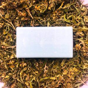Herbs&Hydro Mydło w kostce Konopie z Mikropeelingiem. Naturalne kosmetyki do włosów Dunia ORganic