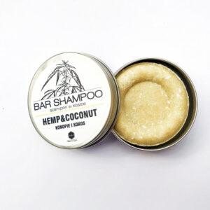 Herbs&Hydro Szampon do włosów w kostce Kokos . Naturalne kosmetyki do włosów Dunia ORganic
